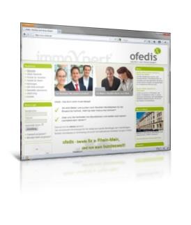 Immobilienportal ofedis, Onlineportal und Buchungstool