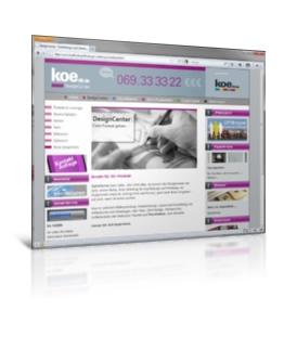 Webdesign, Joomla - koe48 Druckerei, Werbetechnik
