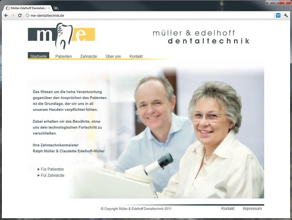 Webdesign Frankfurt - Website für Dentallabor