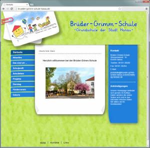 Webdesign mit Joomla: Homepage der Brüder Grimm Schule Hanau