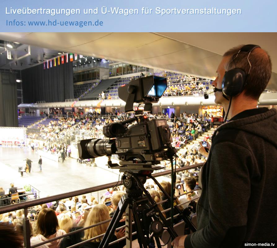 Liveübertragung Cheerleading WM - Ü-Wagen-Dienstleister Simon Media