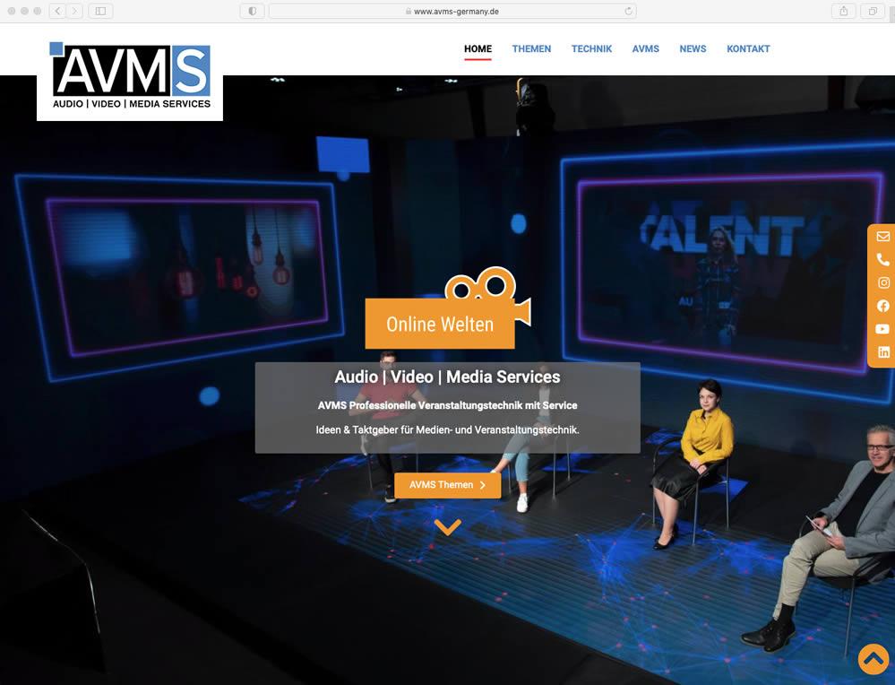 Wordpress Website - Webdesign für AVMS
